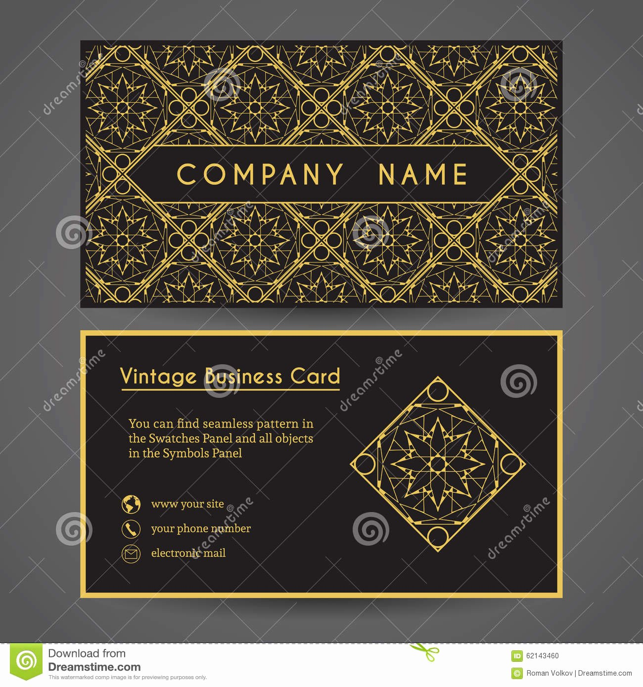 Postcard Template Front and Back Best Of Vector Business Card Template Stock Vector Image