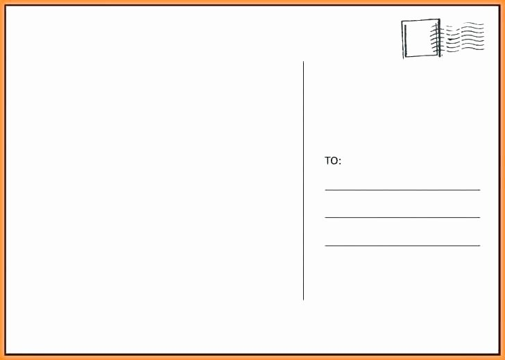 Postcard Template Front and Back Elegant Blank Postcard Template Blank Postcard Template with Lines