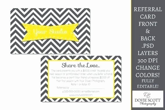 Postcard Template Front and Back Elegant Image 0 Employee Referral Card Template Referral Card