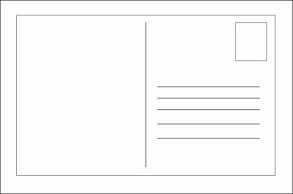 Postcard Template Front and Back Fresh Front and Back Postcard Template Blank Postcards for