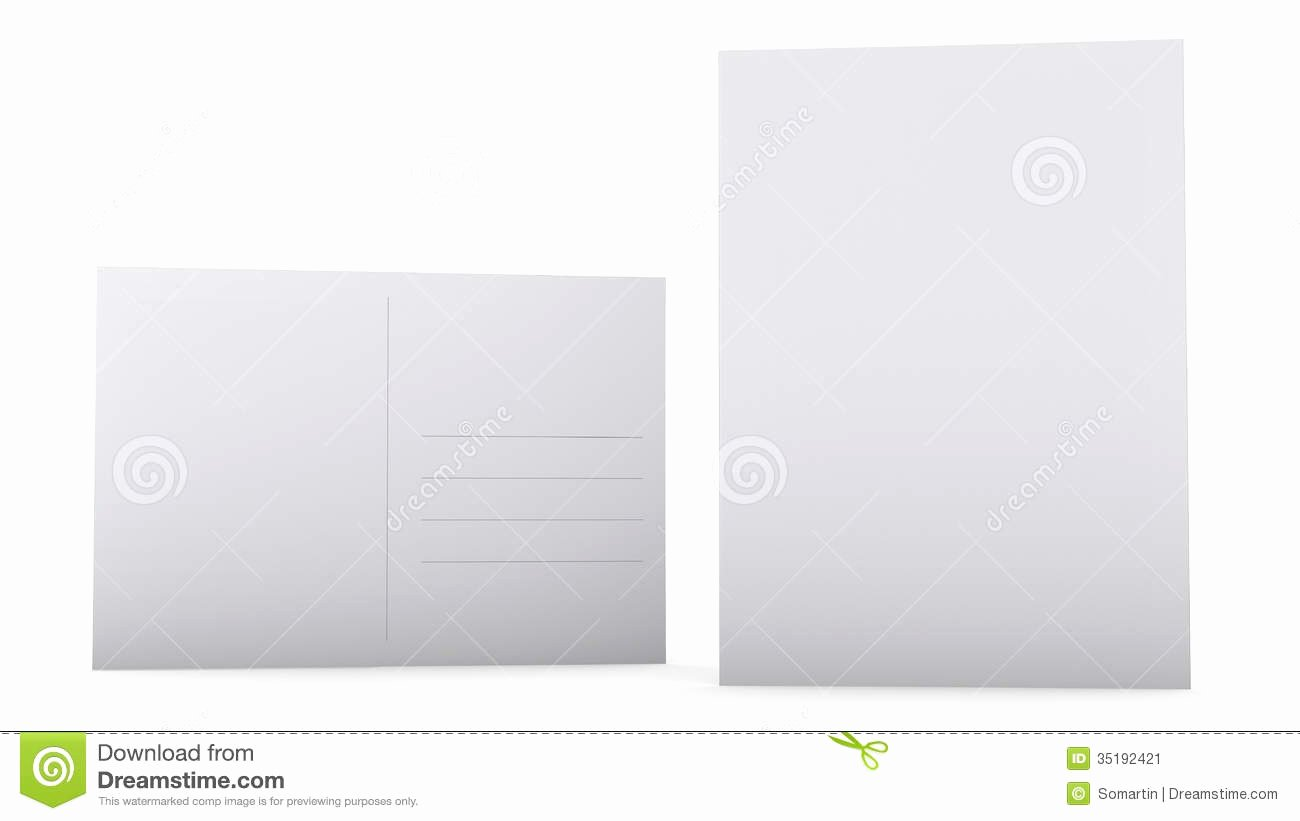 Postcard Template Front and Back Fresh Postcard Template Stock Image Image