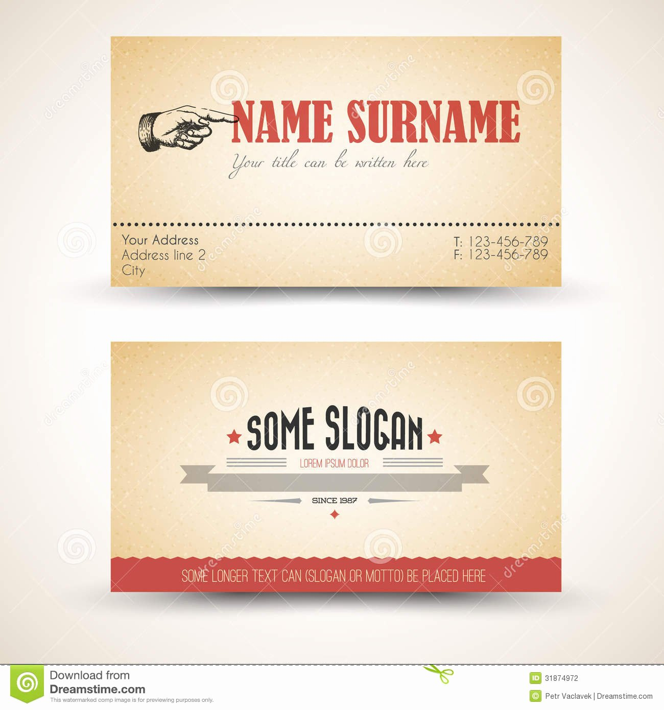 Postcard Template Front and Back New Vector Old Style Retro Vintage Business Card Template
