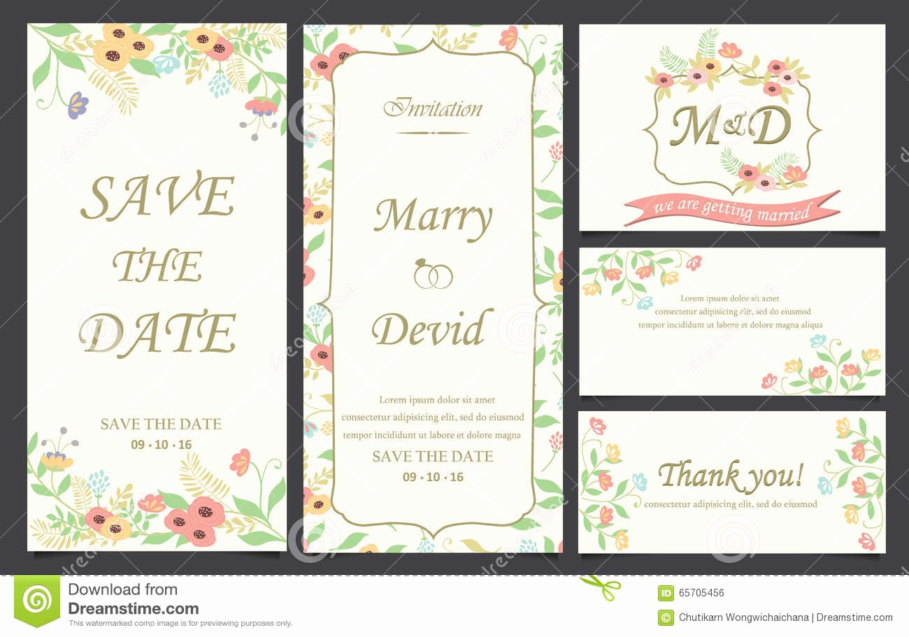 Postcard Wedding Invitations Template Awesome Wedding Invitation Card Template Stock Vector