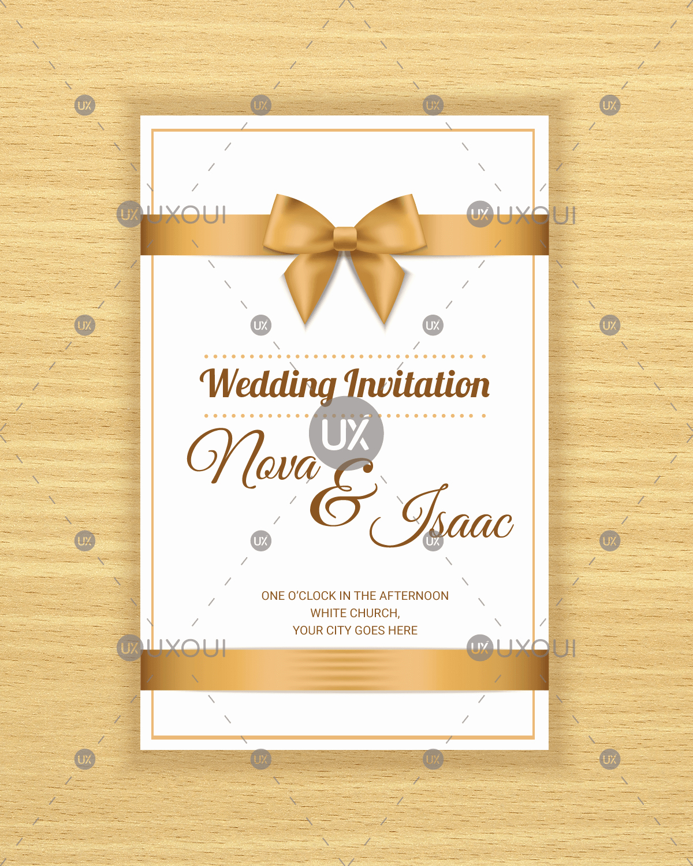 Postcard Wedding Invitations Template Best Of Free Retro Wedding Invitation Card Template Design Vector