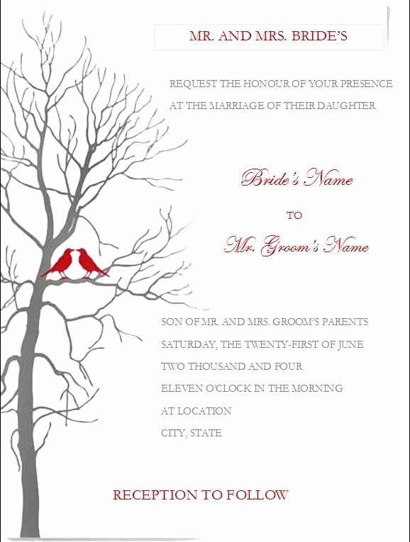 Postcard Wedding Invitations Template Best Of Free Wedding Invitation Templates for Word