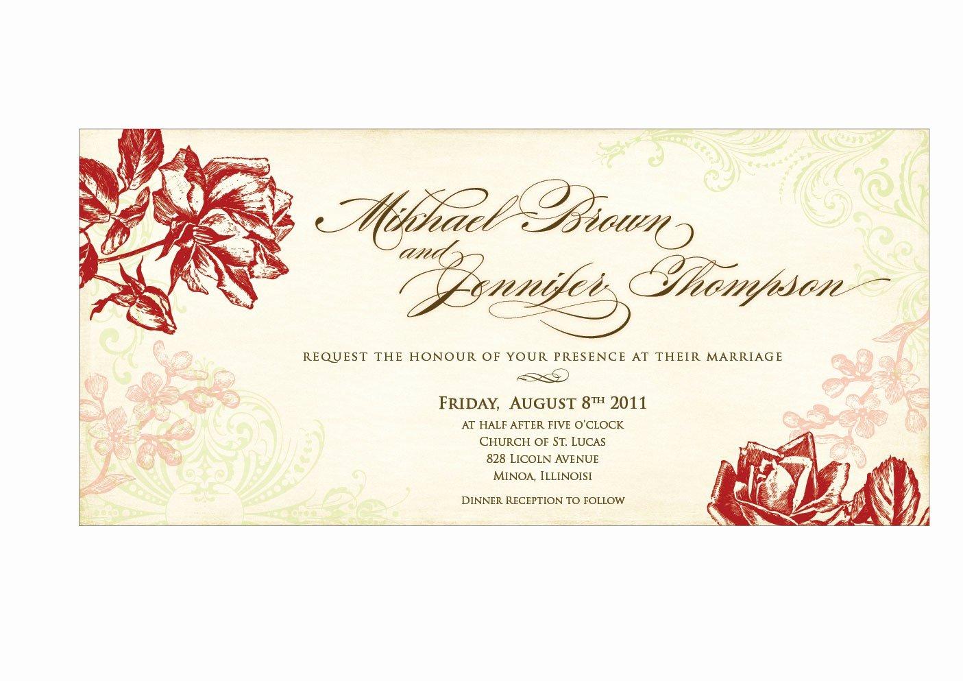 free wedding invitation card template best sample modern designing template flower motive
