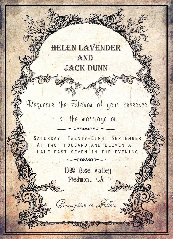 Postcard Wedding Invitations Template Lovely Silver Wedding Invitations