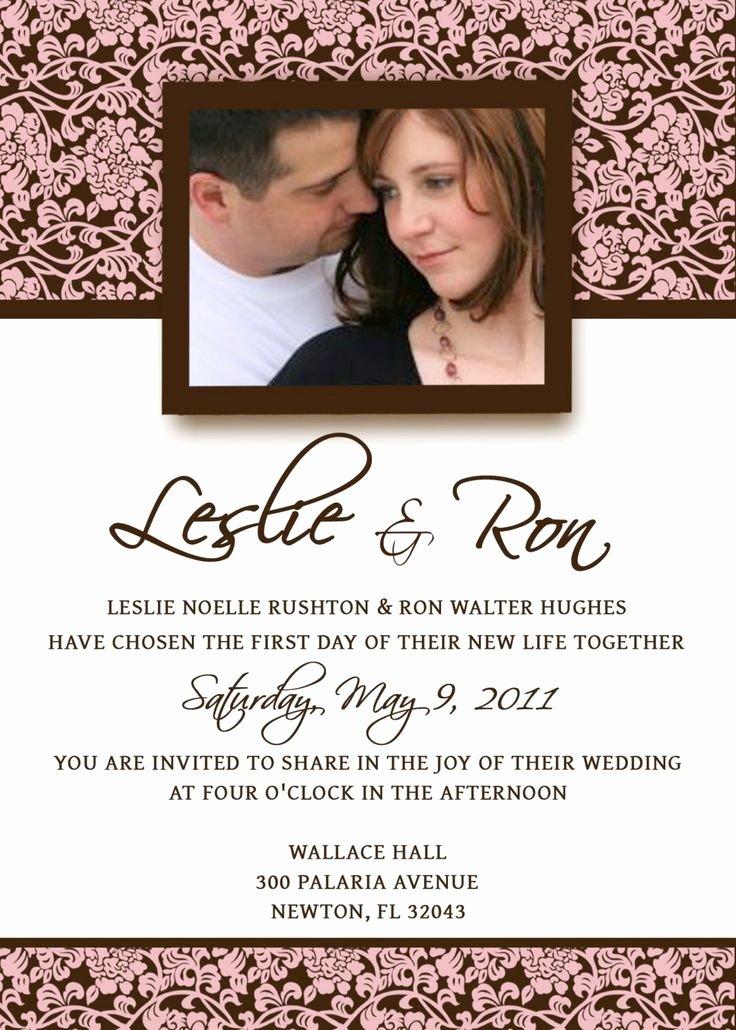 Postcard Wedding Invitations Template Luxury Homemade Wedding Invitation Template