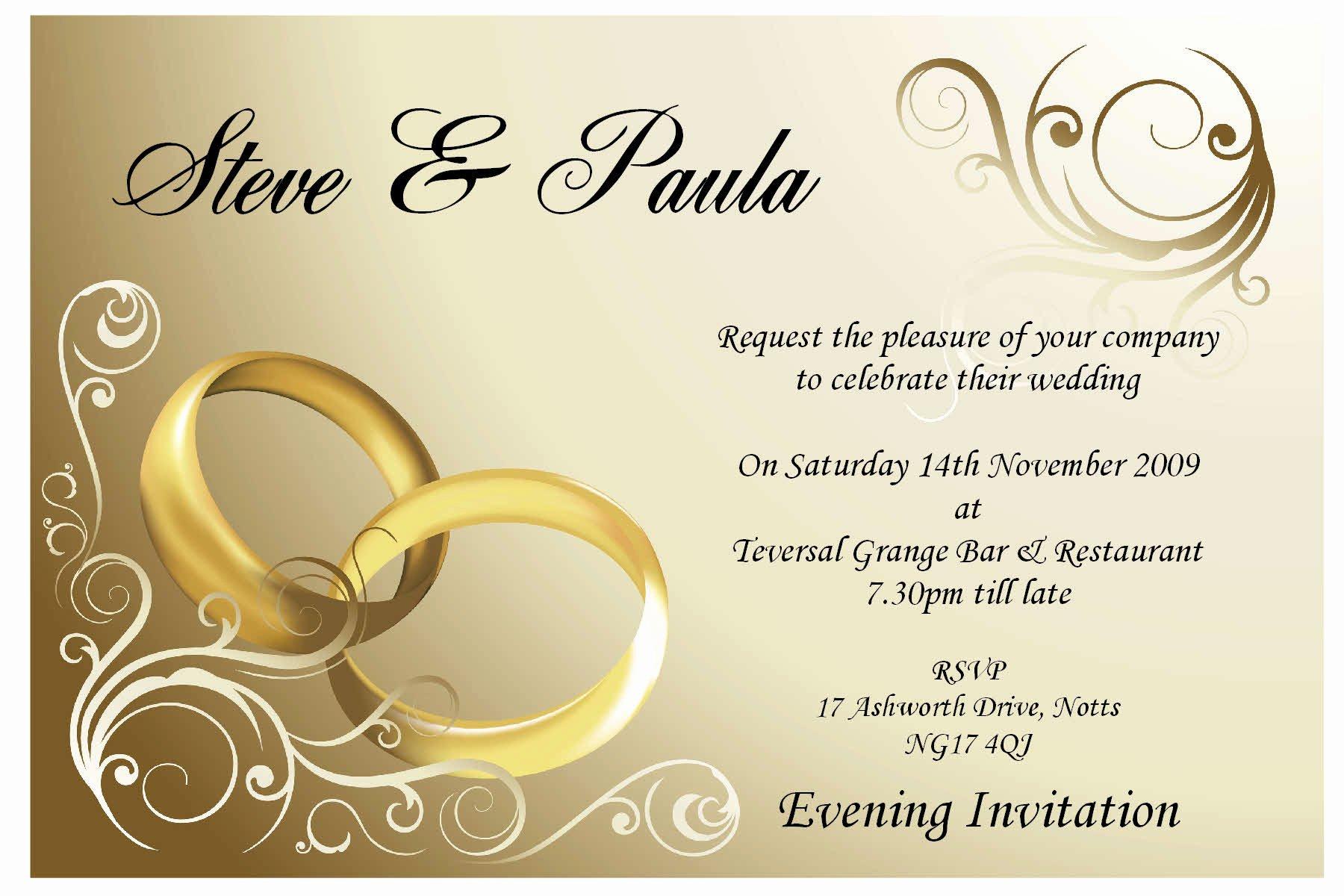 Postcard Wedding Invitations Template Luxury Simple Ideas Wedding Invitation Card Template Couple Ring