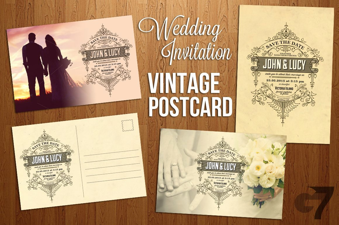 Postcard Wedding Invitations Template Luxury Wedding Invitation Vintage Postcard Invitation Templates