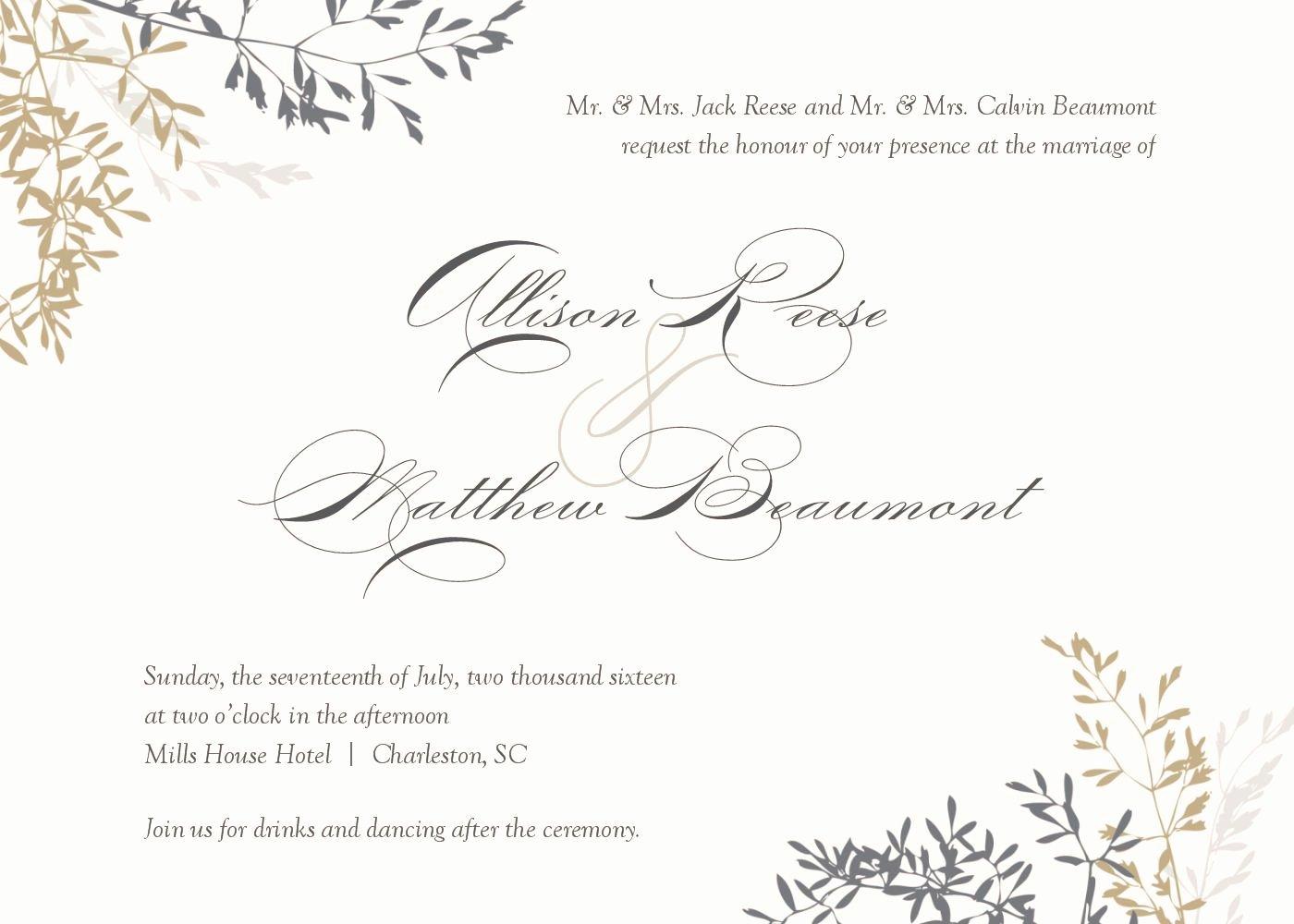 Postcard Wedding Invitations Template Luxury Wedding Invitation Wedding Invitations Template Superb