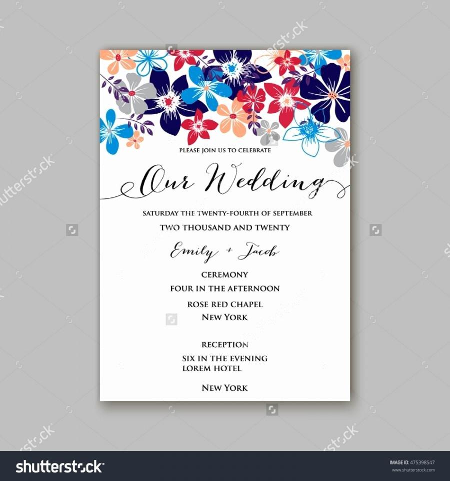 Postcard Wedding Invitations Template New Wedding Invitation Template Card with Tropical Floral