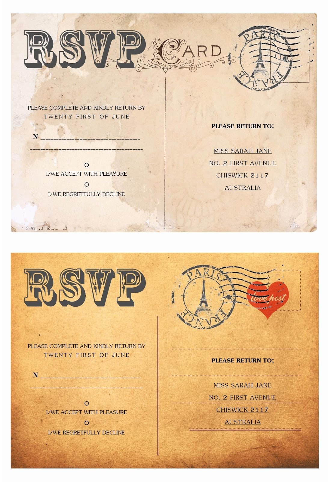 Postcard Wedding Invitations Template Unique Effortless Weddings Stationery April 2011