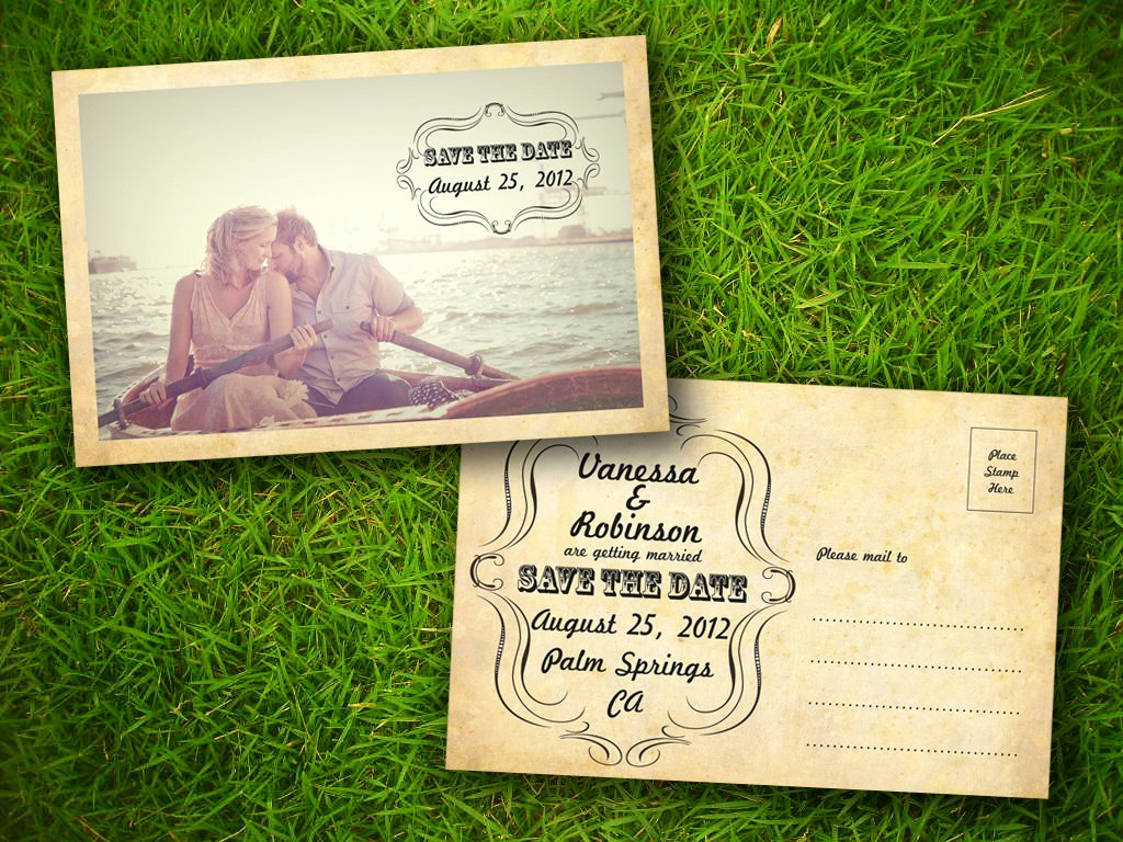 Postcards Save the Date Template Best Of Rustic Postcard