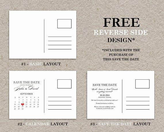 Postcards Save the Date Template Elegant Diy Printable Calendar Save the Date Postcard Save