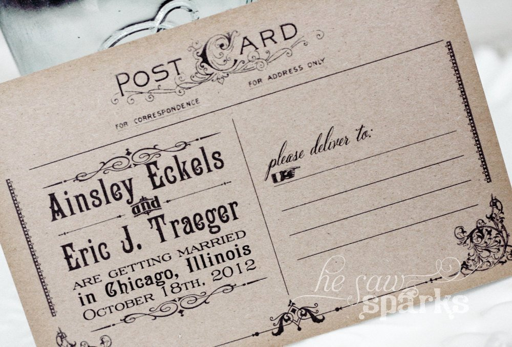 Postcards Save the Date Template Inspirational Vintage Postcard Save the Date Diy Printable