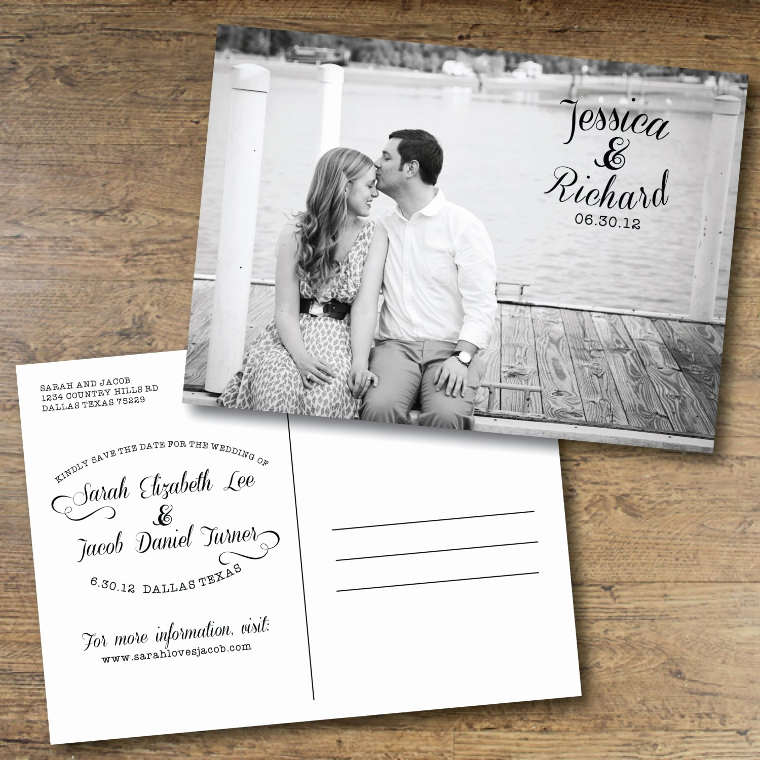 Postcards Save the Date Template Lovely Chandeliers & Pendant Lights