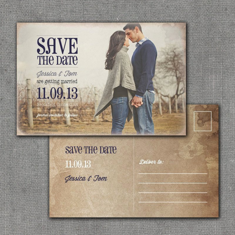Postcards Save the Date Template Luxury Rustic Save the Date Postcard 4x6 Printable Digital File