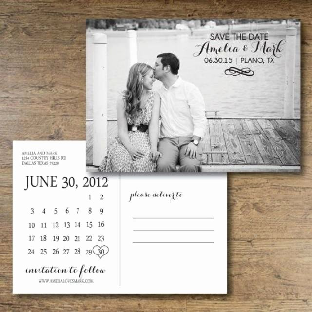 Postcards Save the Date Template New Printable Save the Date Postcard Calendar Postcard