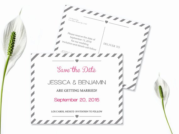 Postcards Save the Date Template New Save the Date Postcard Templates Silver Grey Carnival