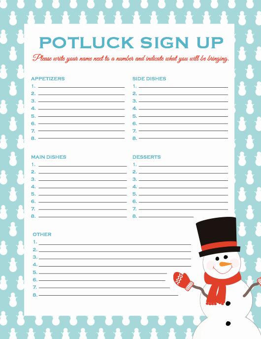 Potluck Signup Sheet Template Excel Fresh Potluck Signup Sheet
