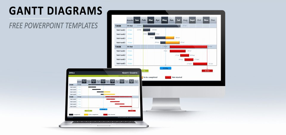 Ppt Gantt Chart Template Awesome Best Gantt Chart Templates Excel Ppt & Google