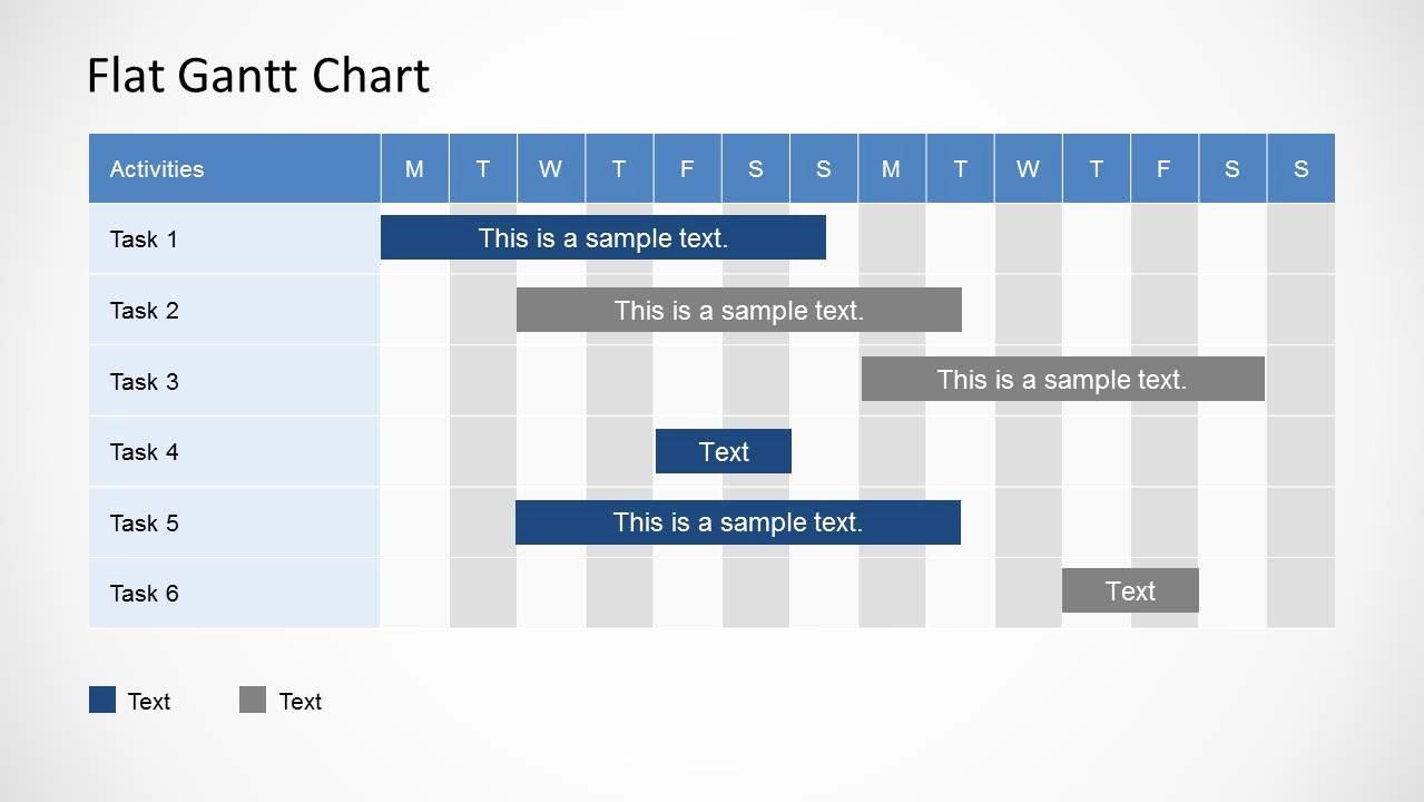 Ppt Gantt Chart Template Beautiful Simple Gantt Chart Powerpoint Template Slidemodel