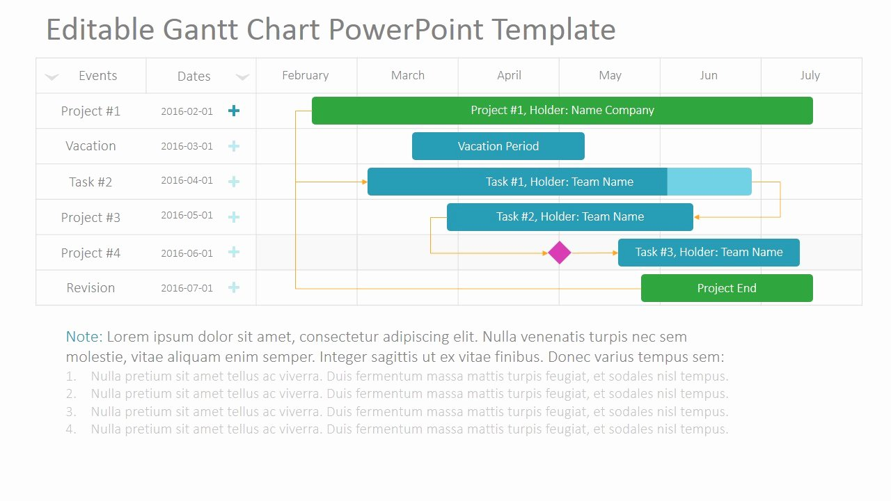 Ppt Gantt Chart Template Elegant Project Gantt Chart Powerpoint Template Slidemodel