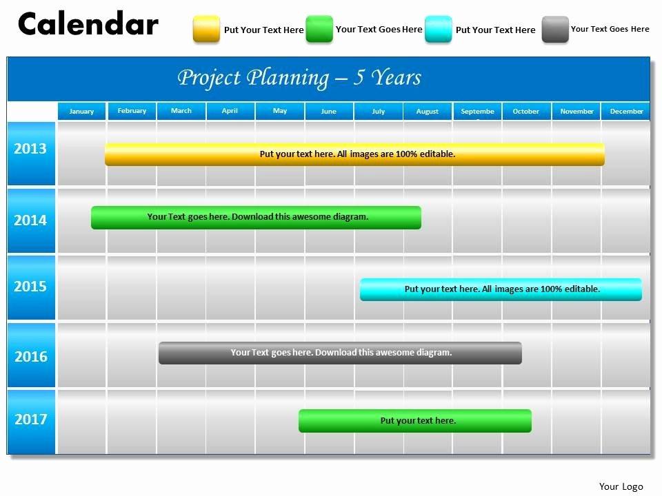Ppt Gantt Chart Template Inspirational 5 Year Planning Gantt Chart Powerpoint Slides Gantt Ppt