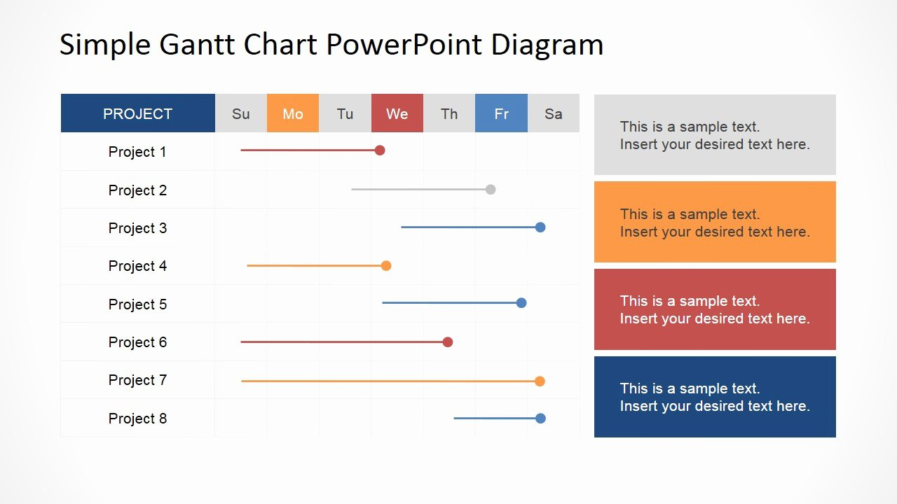 Ppt Gantt Chart Template Unique Simple Gantt Chart Powerpoint Diagram Slidemodel