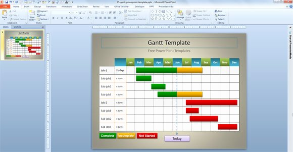 Ppt Gantt Chart Template Unique Simple Gantt Template for Powerpoint