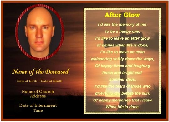 Prayer Card Template for Word Beautiful Memorial Card Template Free