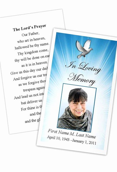 Prayer Card Template for Word Best Of Celestial Dove Prayer Card Template