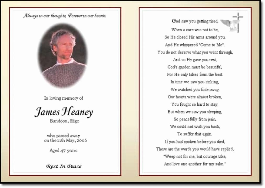 Prayer Card Template for Word Elegant Business Card Word Template Funeral Prayer Card Template