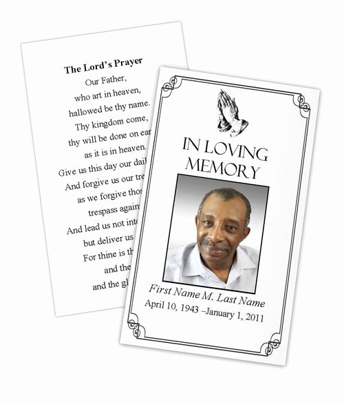 Prayer Card Template for Word Elegant Praying Hands Prayer Card Template