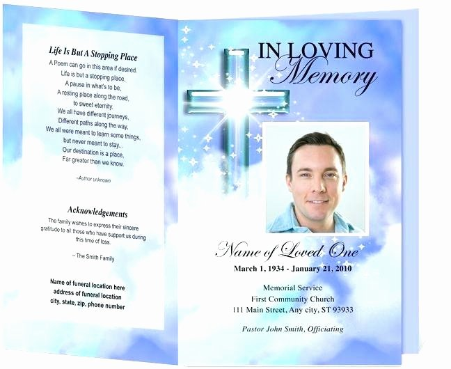 Prayer Card Template for Word Fresh Free Memorial Bookmark Template Download Luxury Card