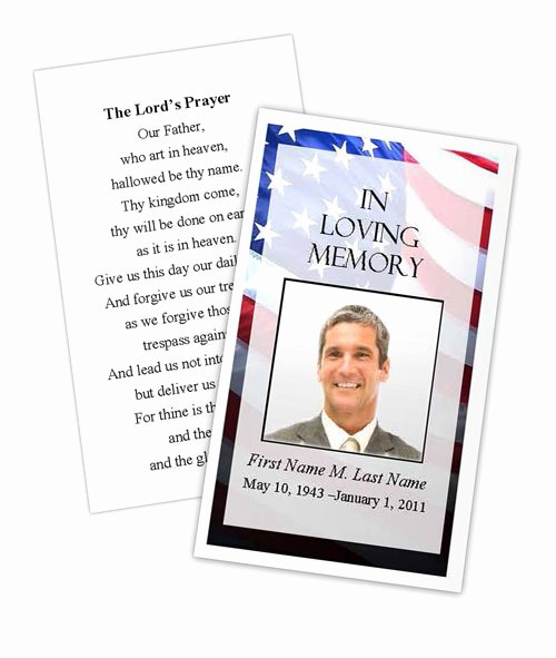Prayer Card Template for Word Fresh Patriotic Us Prayer Card Template