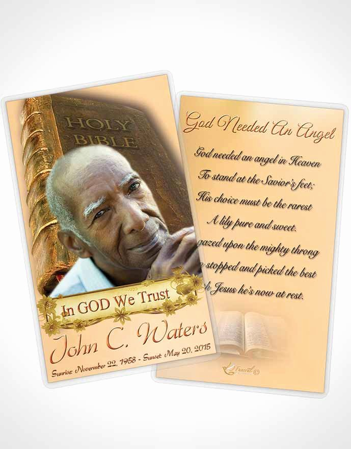 Prayer Card Template for Word Luxury Bifold order Of Service Obituary Template Brochure Holy