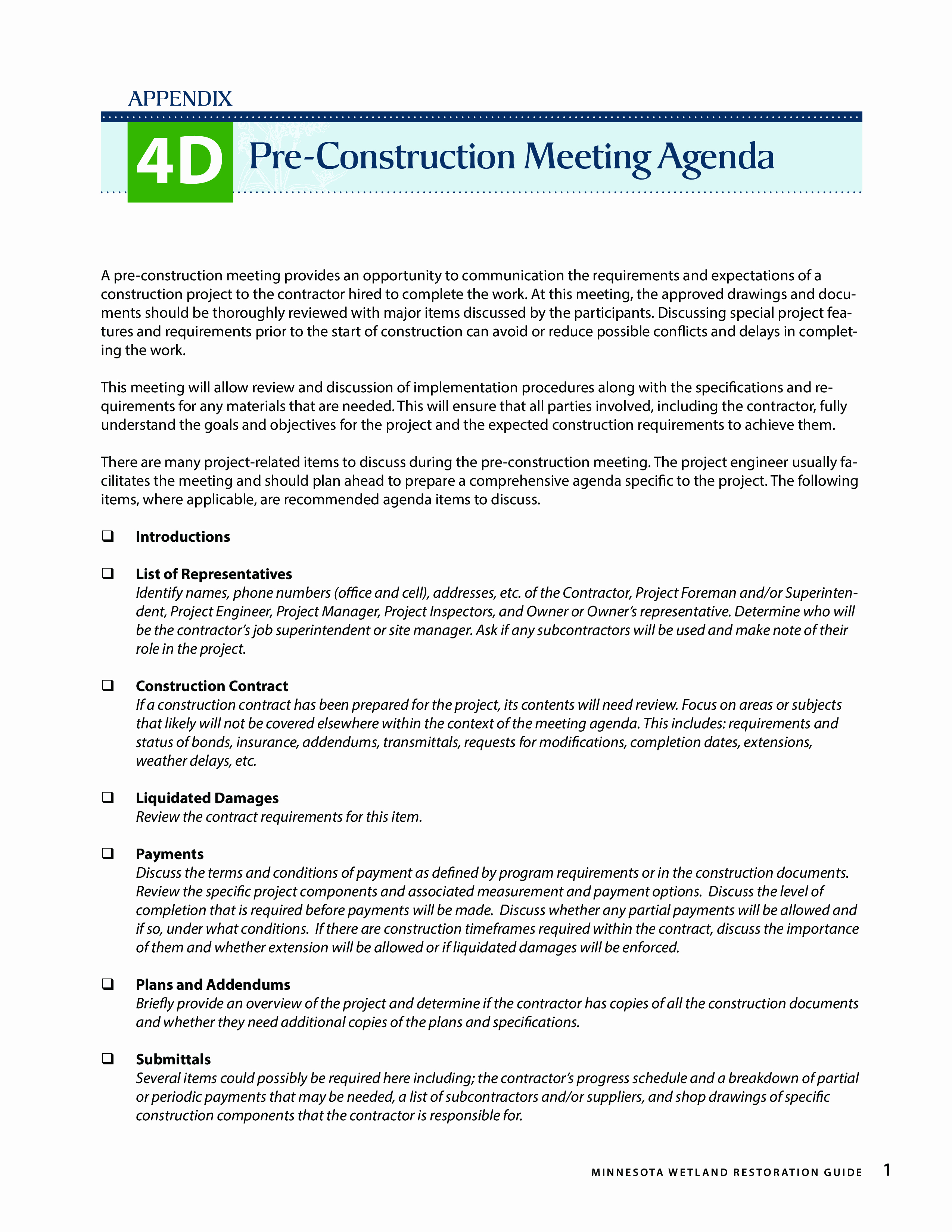 Pre Construction Meeting Agenda Template Beautiful Free Pre Construction Meeting Agenda