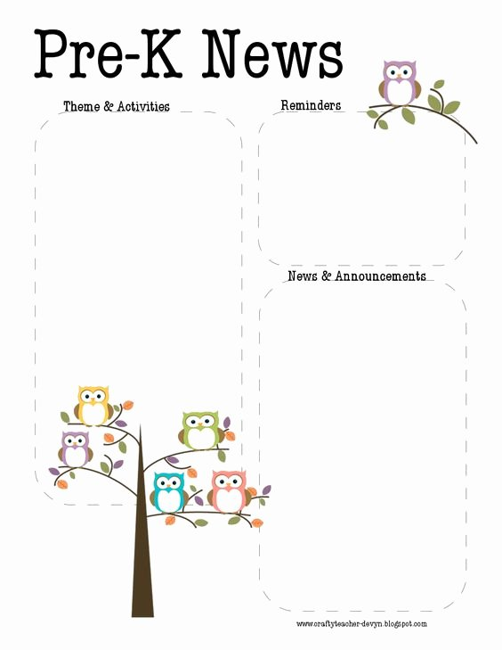 Pre K Newsletter Template Beautiful Newsletter Templates Day Care and Teaching On Pinterest