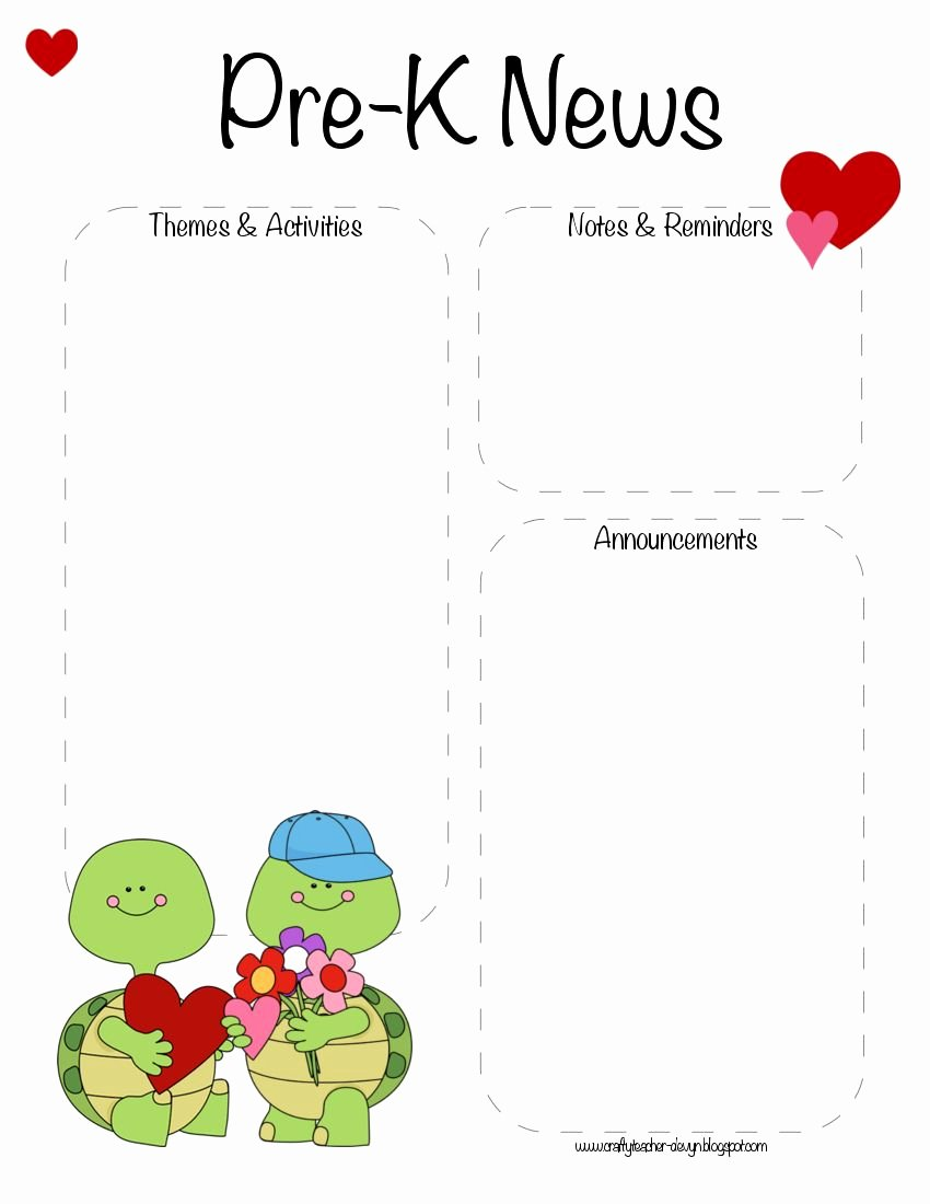 Pre K Newsletter Template Inspirational Pre K Valentine S Day February Newsletter Template