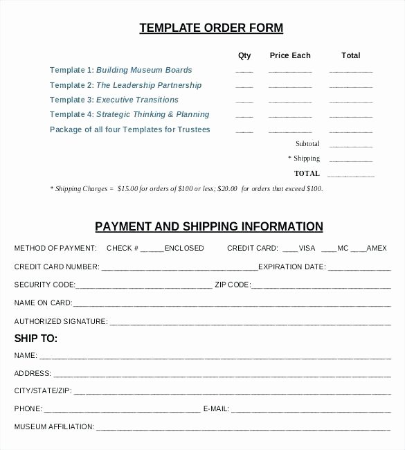 Pre order form Template Awesome Blank Credit Card Payment Authorization Pre Authorized