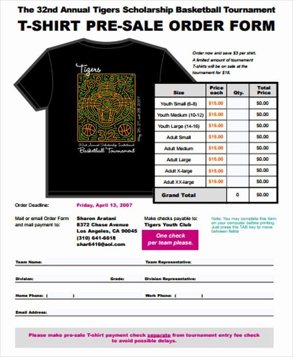 Pre order form Template Fresh 11 Sample Sales order forms