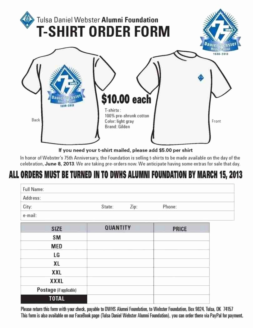Pre order form Template Lovely Gorgeous S T Shirt order form Template