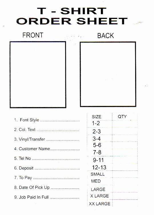 Pre order form Template Luxury 9 T Shirt Pre order form Template Woere