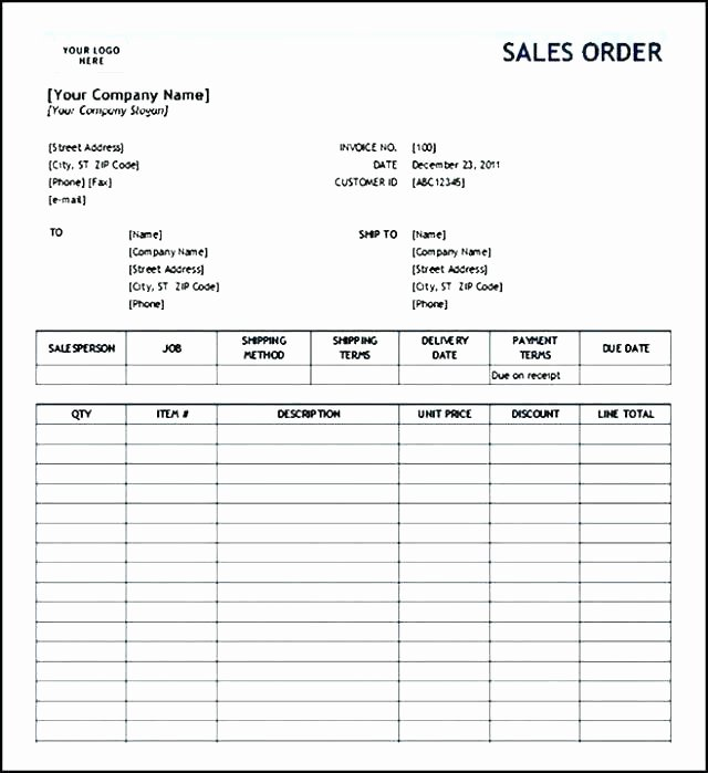 Pre order form Template New Food Pre order form Template Free Bake Sale Excel