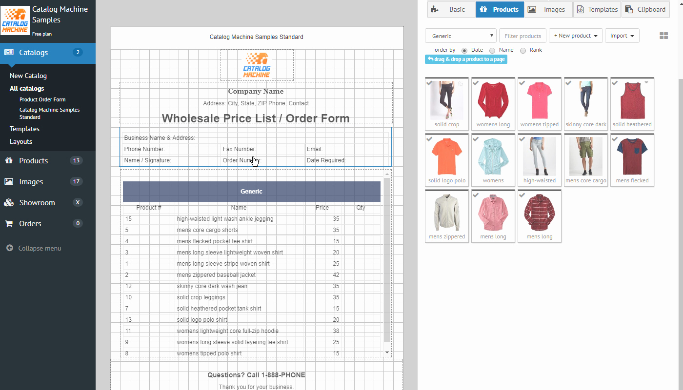 Pre order form Template New Product order forms Easily Create order forms & Catalogs
