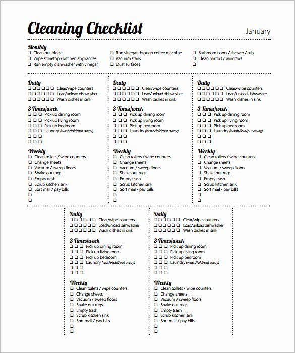 Preschool Cleaning Checklist Template Elegant 35 Cleaning Schedule Templates Pdf Doc Xls
