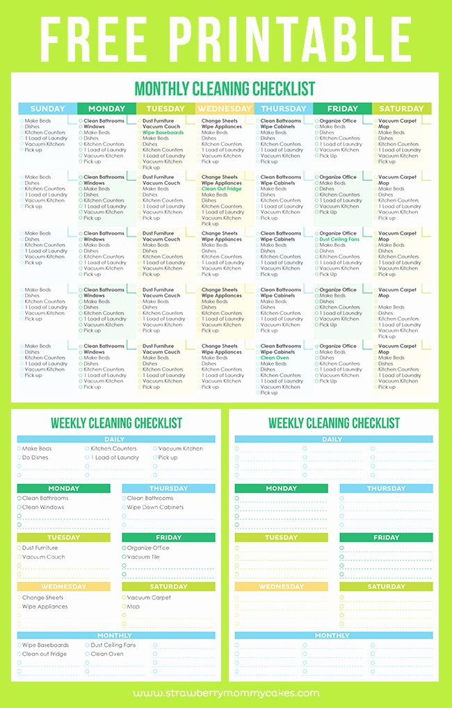 Preschool Cleaning Checklist Template New Preschool Ponderings Friday Freebie Cleaning Checklist