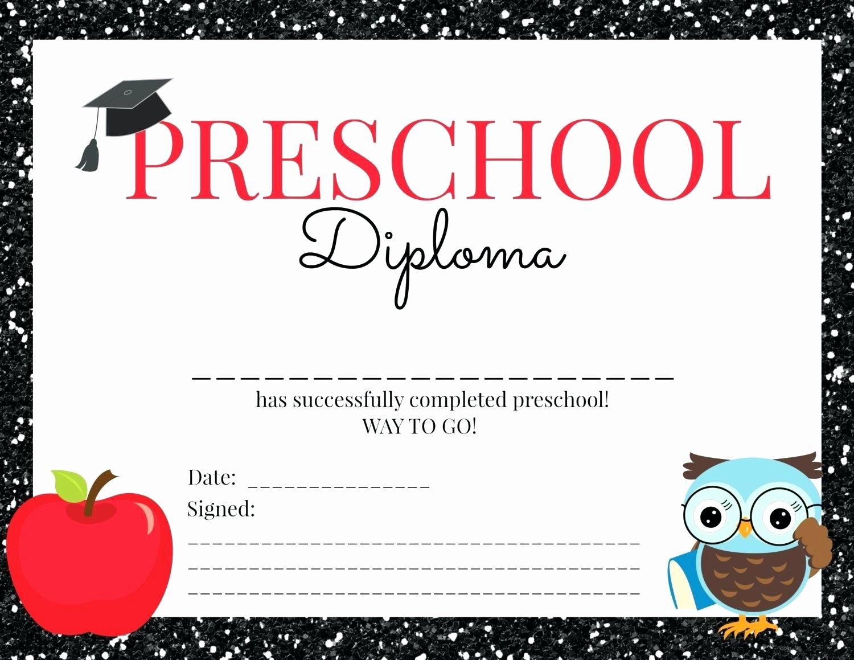 Preschool Graduation Certificate Template Free Beautiful Template Preschool Certificate Template Graduation for